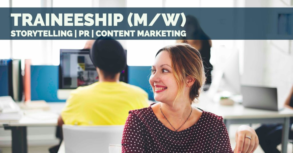 Trainee PR Storytelling Content Marketing