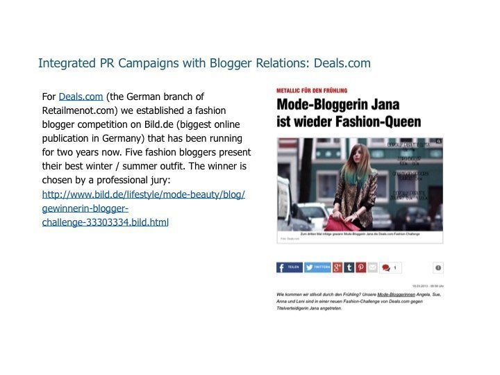 Integrated PR Campaigns with Blogger Relations: Deals.com