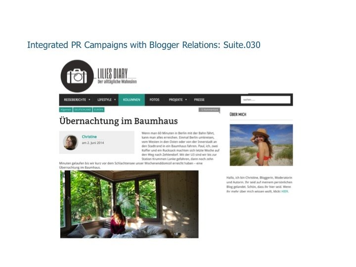 Integrated PR Campaigns with Blogger Relations: Suite.030