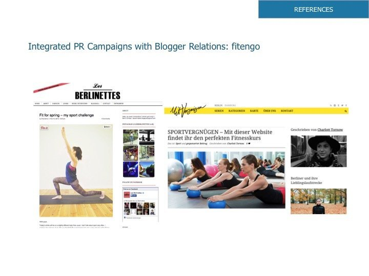 Integrated PR Campaigns with Blogger Relations: fitengo