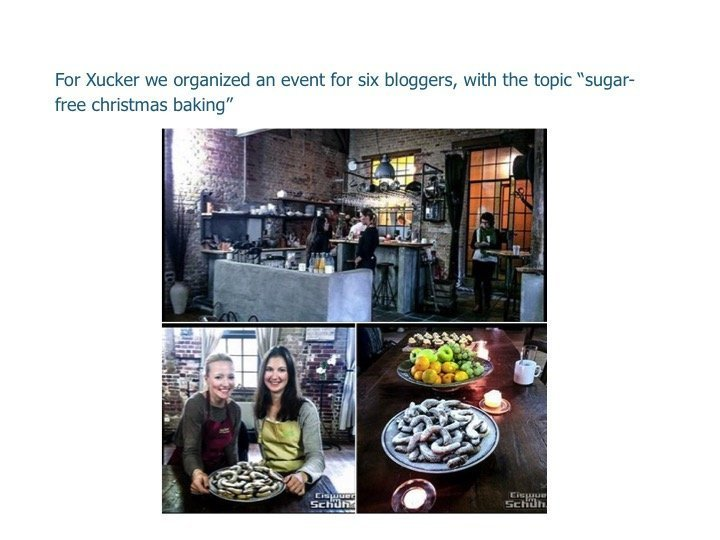 """For Xucker we organized an event for six bloggers, with the topic """"Sugar free christmas baking"""""""