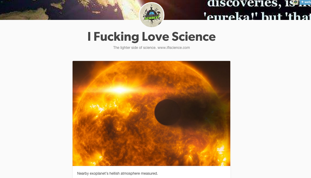 I fucking love science