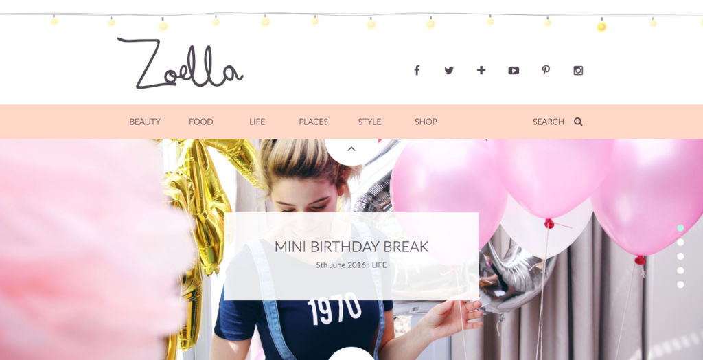 Zoella Header
