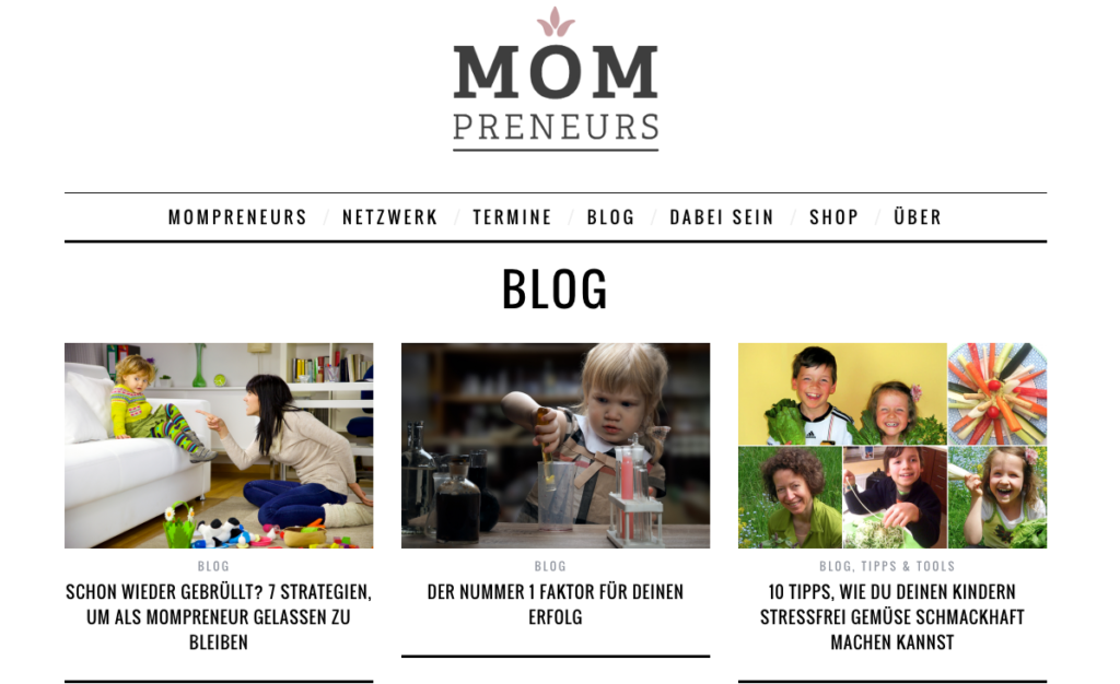 Screenshot Mompreneurs