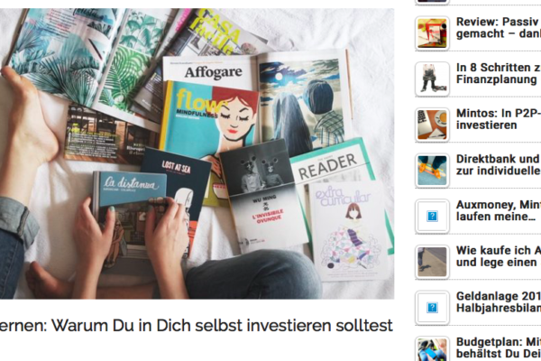 Screenshot Blog Finanzrocker