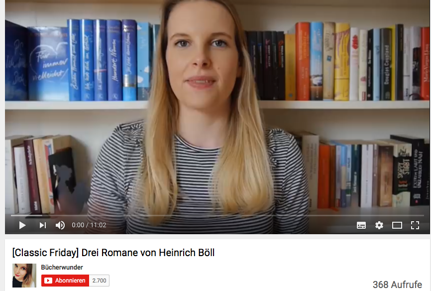 Screenshot Youtube-Kanal Bücherwunder
