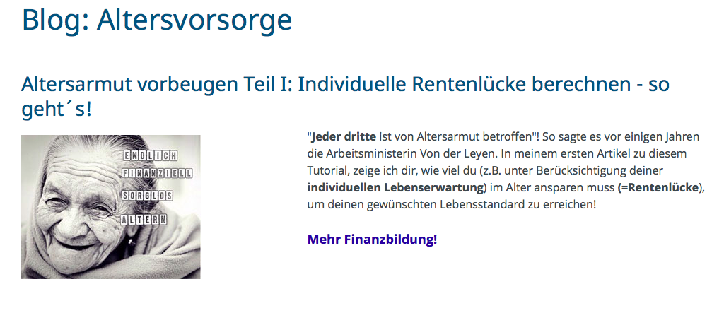 Screenshot Blog Finanzdurchblick