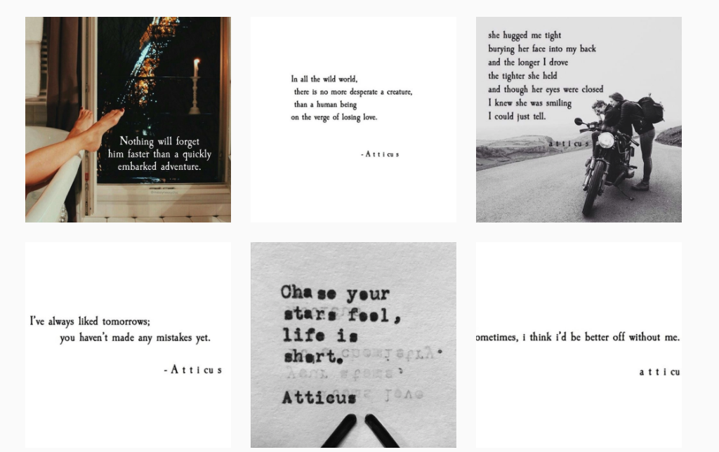 Screenshot Instagram Atticus Poetry