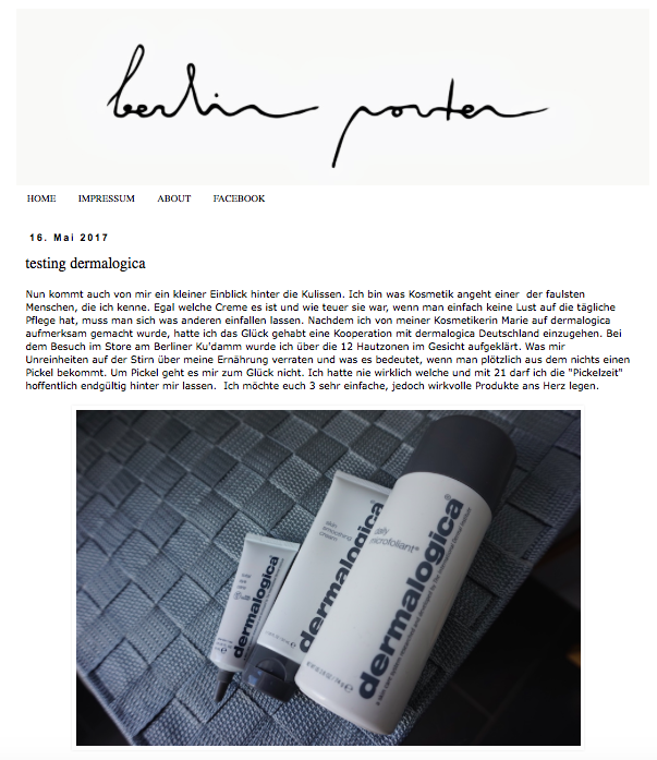 Screenshot Blog berlin porter: Berliner Lifestyle Blogger