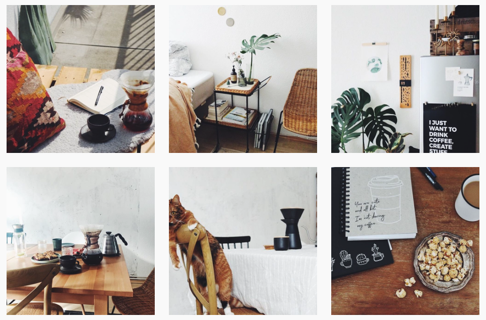 Screenshot Instagram doitbutdoitnow: Berliner Interior Blog mit Cat Content