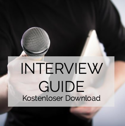 Kostenloser Download: Interview Guide für Presse, Radio, TV