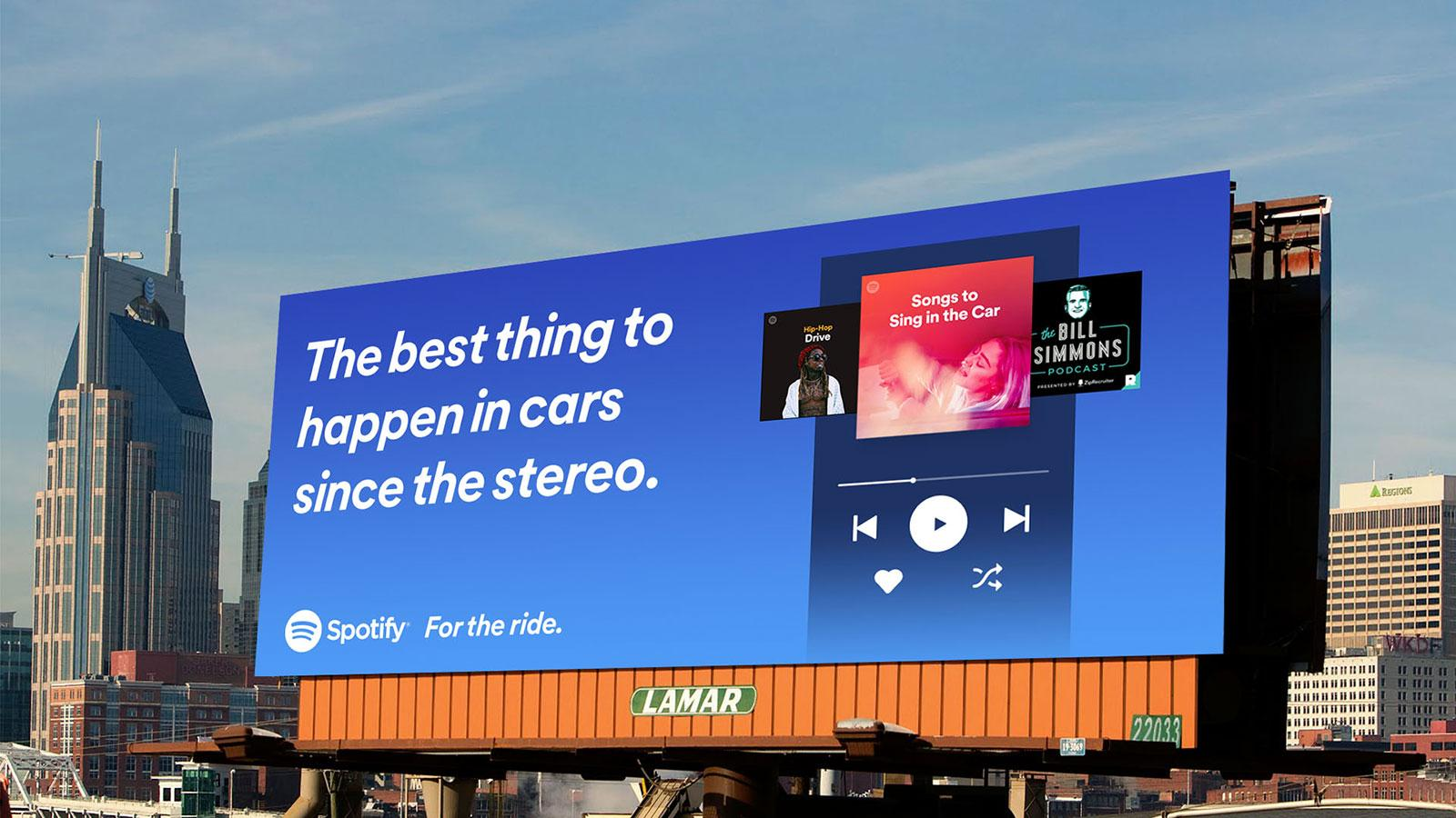 Spotify Plakat The best thing to happen in cars since the stereo