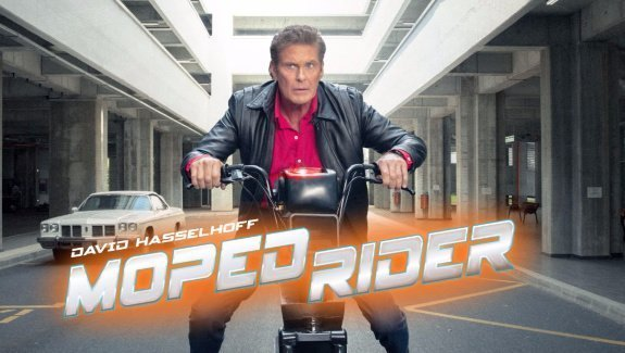 "David Hasselhoff in ""Moped Rider"""