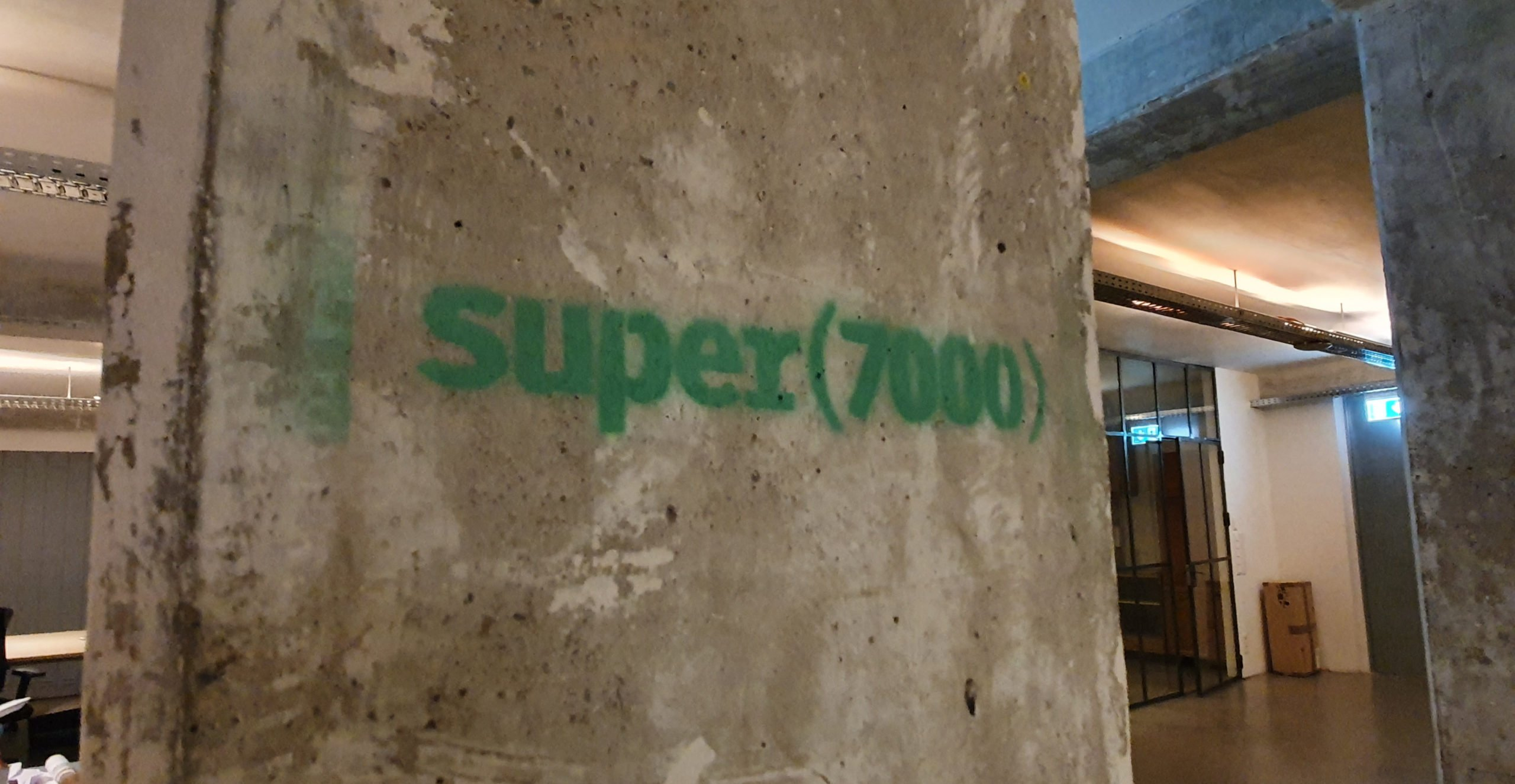 Das Logo vom Super7000-Co-Workig-SPace in Düsseldorf