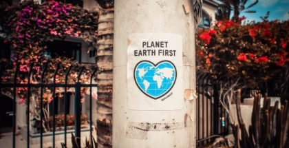 """Sticker """"Planet Earth First"""""""