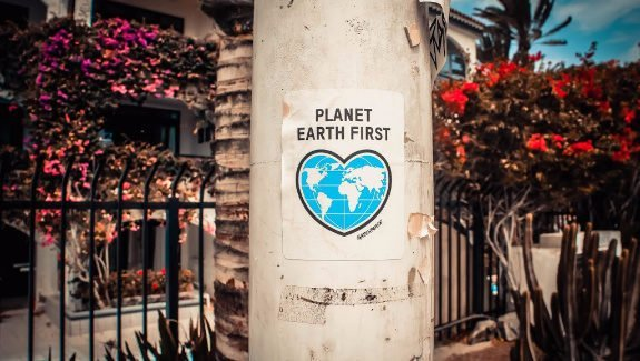 "Sticker ""Planet Earth First"""