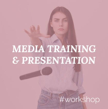 Workshop for Media Training, Presentations and Speeches
