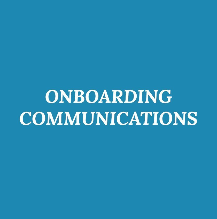 Onboarding Communications