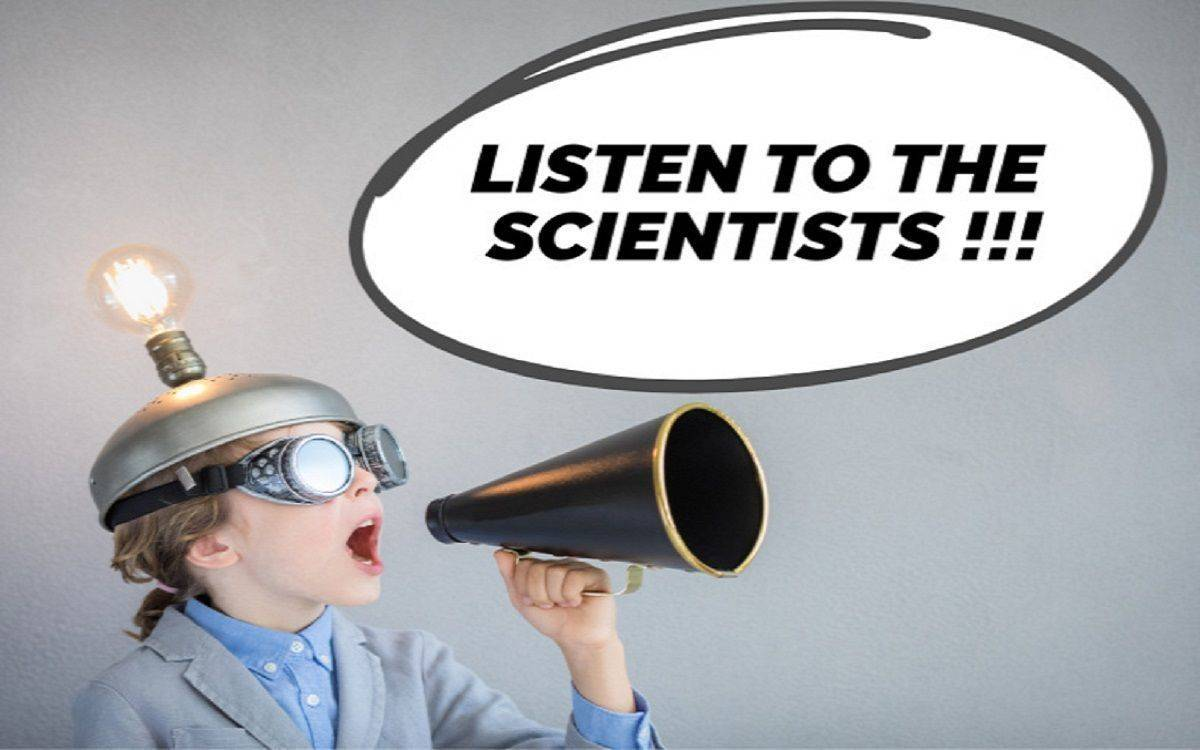 "Kampagne von Mashup Communications ""Listen to the Scientists"""